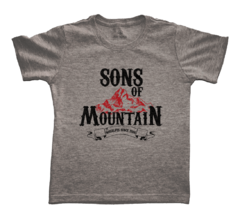 Camiseta Infantil Sons of Mountain Cinza | Nos Alpes