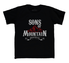 Camiseta Infantil Sons of Mountain Preta | Nos Alpes