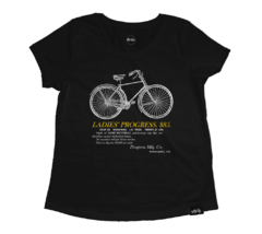 Camiseta Ladies Progress Preta | Nos Alpes
