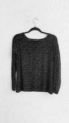 Blusa Animal Print (M) - Blue Moon Brechó