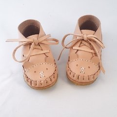 Firts Steps Bear Lace-up Sleepers Natural - buy online