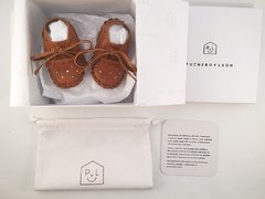 Baby Pelota Lace-up Slippers Caramel - online store