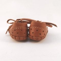 Baby Pelota Lace-up Slippers Caramel - Puchero y León