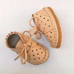 Kid's Pelota Lace-up Slippers Natural on internet