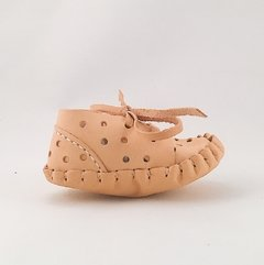 Baby Pelota Lace-up Slippers Natural