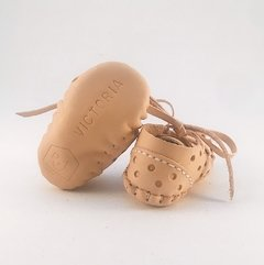 Baby Pelota Lace-up Slippers Natural - online store