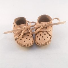 Baby Pelota Lace-up Slippers Natural on internet