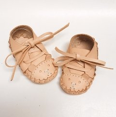 Baby Bear Lace-Up Sleepers Natural