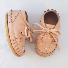 Firts Steps Bear Lace-up Sleepers Natural