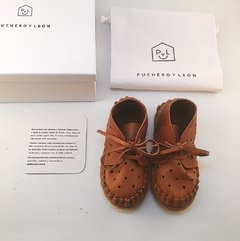Kid's Pelota Lace-up Slippers Caramel - online store