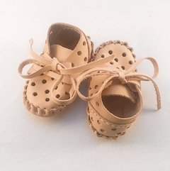 Image of Baby Pelota Lace-up Slippers Natural