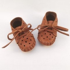 Baby Pelota Lace-up Slippers Caramel