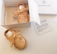 Firts Steps Bear Lace-up Sleepers Natural - online store