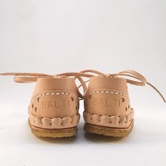 First Steps Pelota Lace-up Slippers Natural - buy online