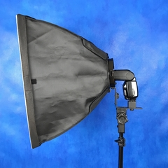 Kit Softbox P/ Flash Speedlight 45x45 Montagem Atek