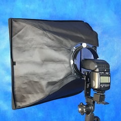 Kit Softbox P/ Flash Speedlight 45x45 Montagem Atek - comprar online