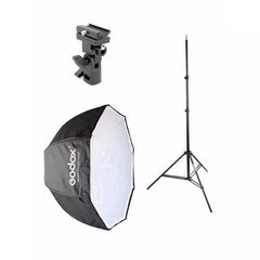 Kit Octabox Sombrinha Universal 120cm para Flash dedicado