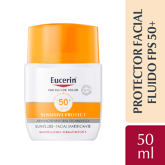 Eucerin Sensitive Protect SPF 50 Sun Fluid Facial Matificante - 50 ml