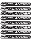 KIT COM 4 PARES DE EMBLEMAS ADESIVOS P/ PARALAMA CAN AM OUTLANDER
