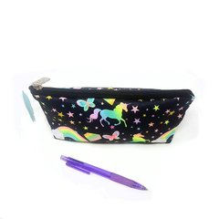 CARTUCHERA SIMPLE - UNICORNIO TEXTURA NEGRO - comprar online