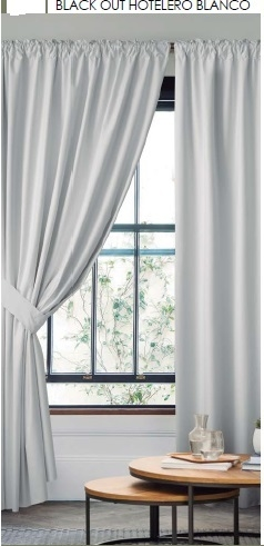 Cortinas Black out Hotelero + Agarraderas Black Out - Viento Textil