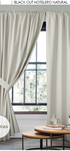 Cortinas Black out Hotelero + Agarraderas Black Out - comprar online