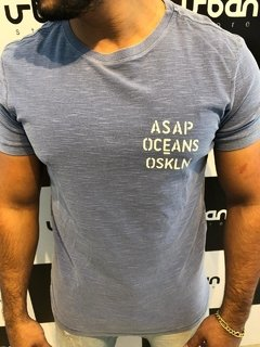 Camiseta Osklen ASAP OCEAN - Azul Rough
