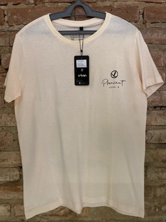 Camiseta Level's Jeans Pheasant Botonê - Off White