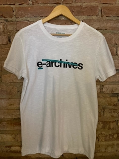 Camiseta Osklen E-Archives - Branco Rough