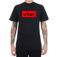 Camiseta Urban Collection Logo In Box - Preto C/Vermelho (Masculina)