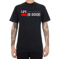 Camiseta Urban Co. Life is Good - Preto (Masculina)