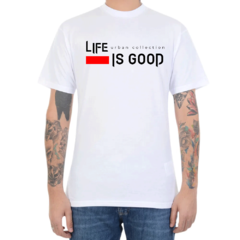 Camiseta Urban Co. Life is Good - Branco (Masculina)