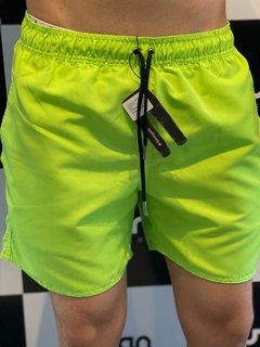 Shorts Moda Praia Level's Jeans - Verde Neon