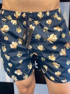 Shorts Moda Praia Level's Jeans - Black Floral