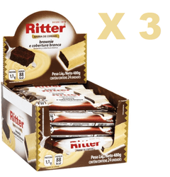3 BARRA CEREAL BROWNIE CHOC BRANCO 20G 24UN RITTER