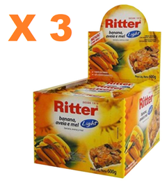 3 BARRA CEREAL LIGHT BAN/AVEIA/MEL 25G 24UN RITTER