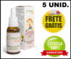 5 Frascos De Cromo Floral Kids Reorganização Familiar 30ml