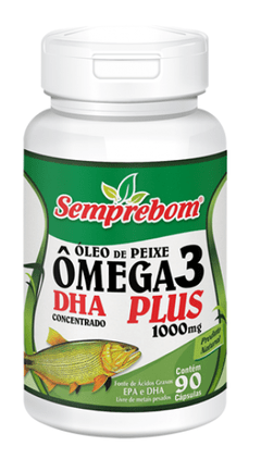 OLEO DE PEIXE OMEGA 3 DHA PLUS 90 CAPS 1000MG Semprebom