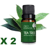 2 OLEO ESSENCIAL 10ML MELALEUCA TEA TREE ORG DERMA CLEAN