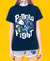 Pijama Pillow Fight Unissex - Camiseta Azul - Short Mescla e Branco