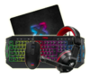 Kit Teclado Mouse Auricular Mousepad Full Streamer Gaming