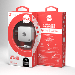 Cargador de Pared Premium Con Cable Lightning Qualcomm Quick Charge