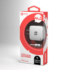 Cargador de Pared Premium Con Cable Lightning Qualcomm Quick Charge - comprar online