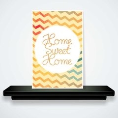 placa decorativo - home sweet home zig-zag