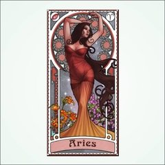placa decorativa signos - aries