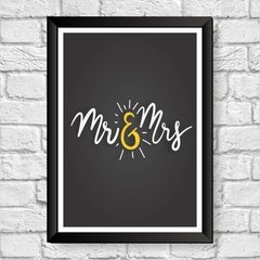 quadro moldura mr & mrs