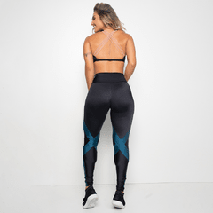 LEGGING PRETA TRILOBAL BICOLOR - Legging - Top - Cropped - Regata - Saia - Short - Short Saia - Bermuda - Moda Fitness  | Soho Fit Co.