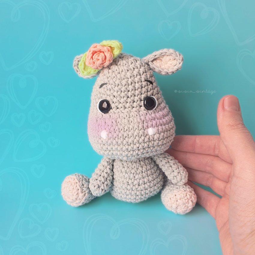 hipopotamo amigurumi - YouTube | 850x850