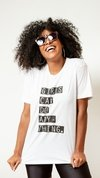 T-Shirt Malha Silk Girls Can Do Anything
