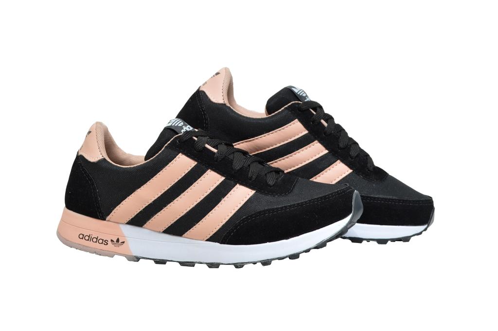 adidas neo preto e rosa